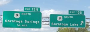 Exit 13 sign