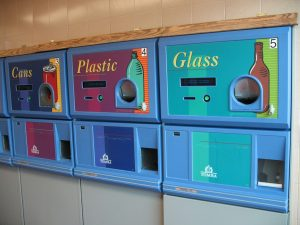 Self Serve Machines are fun but not always quick. Once you deposit all your bottles, press the button for a slip to bring to registers to redeem.