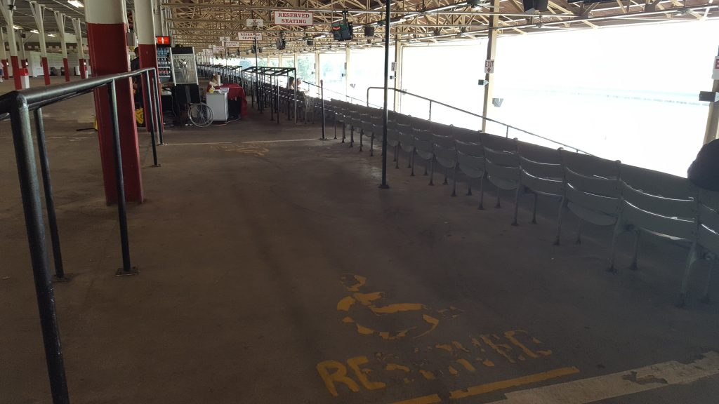 Grandstand Seating area for wheelchairs