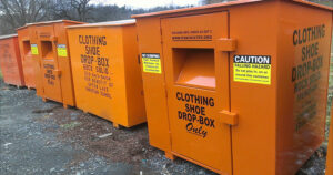 Rock Solid Charity Clothing Collection Bin