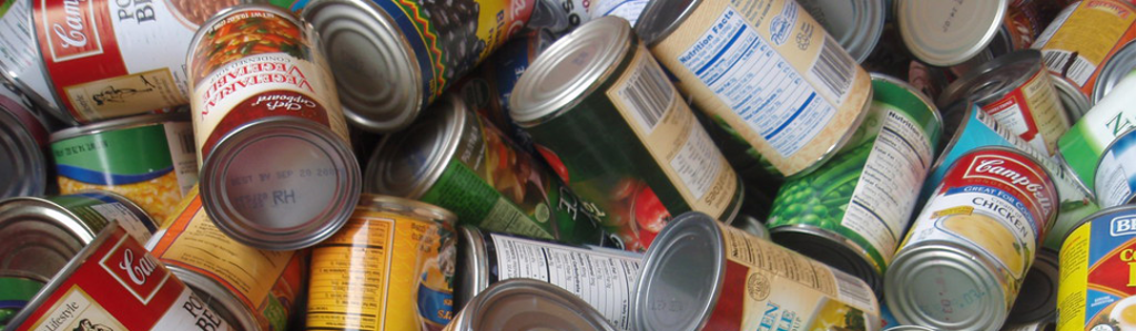 Pile of general canned goods